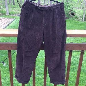 Brown Ralph Lauren Corduroy Pants